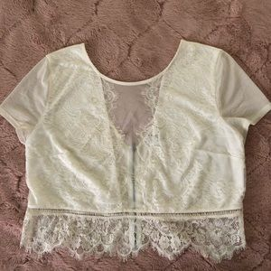 Express lace crop top